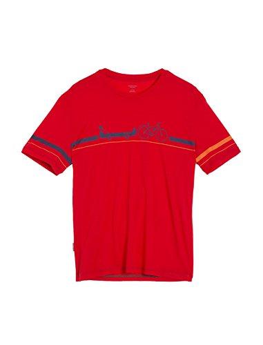 Icebreaker Merino Men's Tech Lite T-Shirt w/Graphic, New Zealand Merino Wool, Road to River - Rocket, Large