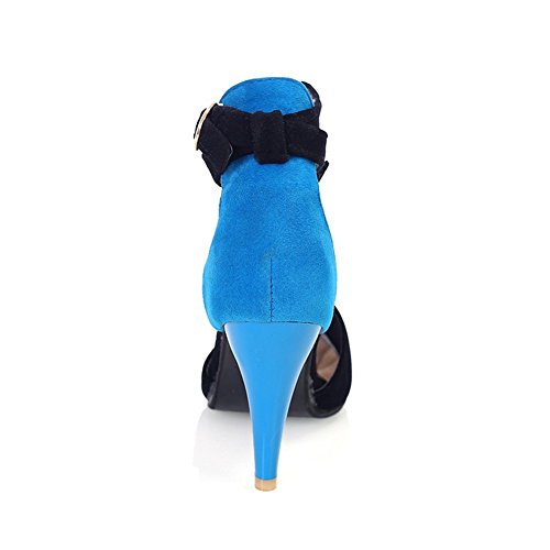 Adee Mujer Hilo pointed-toe esmerilado Sandalias Azul - azul