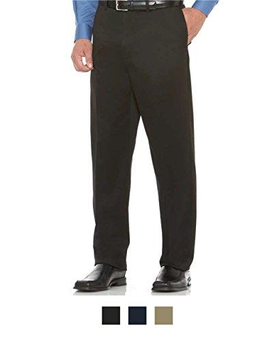 Savane Flat Front Casual Pants Ultimate Performance 46 X 30 Black #511A