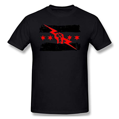 cm Punk Best in The World Printed Design Fashion Short Sleeve Tee Comfortable Fashion T Shirt Black