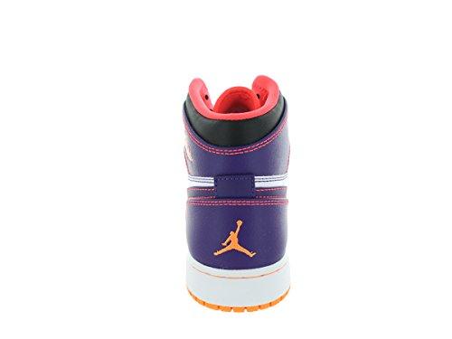 Nike Air Jordan 1 Retro High BG, Zapatillas de Baloncesto Para Niños Morado / Rojo / Blanco (Crt Prpl / Brght Crmsn-White-Brg)
