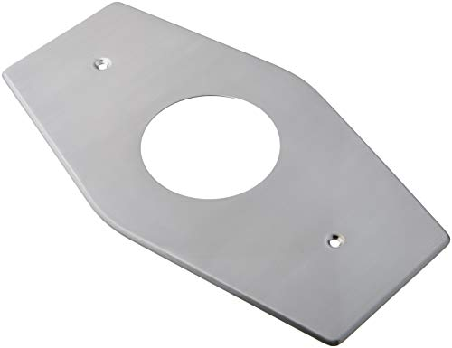Westbrass One-Hole Remodel Plate for Mixet, Satin Nickel, D503-07