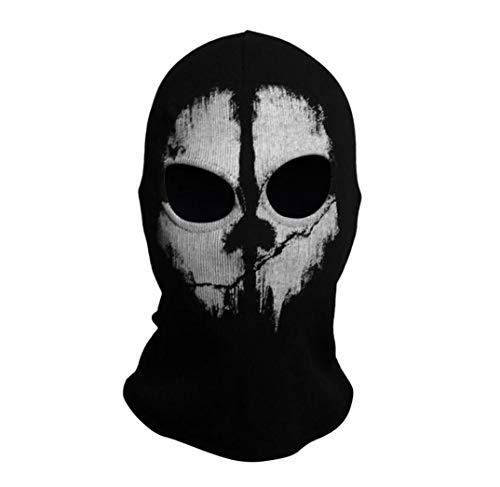 Unisex Skullies Beanies Hat,Cotton Balaclava Mask Halloween Full Face Game Cosplay Stocking Mask CS Player Cap