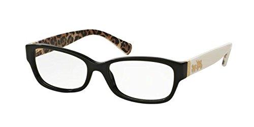 COACH Eyeglasses HC 6078 5336 Black/Ivory Wild Beast - Glasses Frame Coach Black