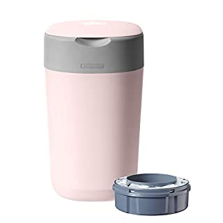 Tommee Tippee Twist and Click Advanced Nappy Disposal Sangenic Tec Bin, Pink