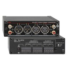 RDL RU-AFC2 Bidirectional Format Converter, 1/3 Rack, Stereo Balanced Unbalanced Conversion - Power Supply Included