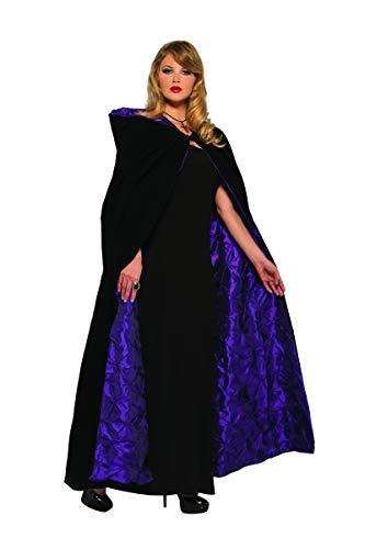 Pizazz! Unisex-Adult's Deluxe Vampiress Cape, Black/Purple, One Size ()