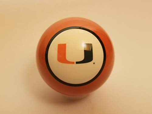 Miami Hurricanes Shift Knob Orange Solid