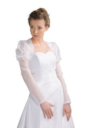 """novia Chaqueta S de 108Organza Blanco o crema de tamaño S XL/36–�?2novia Moden de paulick """" beige"""