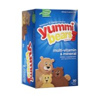 Yummi Bears Organics multivitamines, vitamines gommeux pour les enfants, 90-comte Bouteille