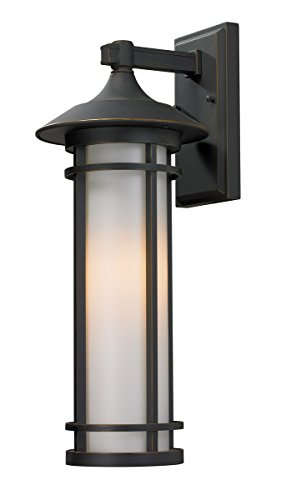 Woodland Wall Fixture - Z-Lite 530M-ORB Outdoor Wall Light with Aluminum Frame and Glass, Matte Opal