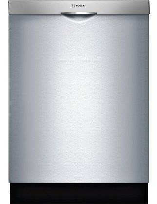 Bosch 300 Series SHS63VL5UC 24″ Fully Integrated Scoop Handle Dishwasher with 15 Place Settings 5 Wash Cycles 44 dBA Detergent Tray and Stainless Steel Tub in Stainless