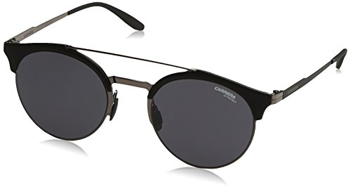 Carrera Metal Rectangular Sunglasses 51 0KJ1 Dark Ruthenium IR gray blue - Carrera Sunglasses 22