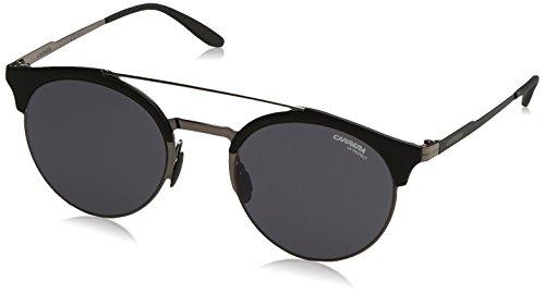 Carrera Metal Rectangular Sunglasses 51 0KJ1 Dark Ruthenium IR gray blue - Sunglasses 22 Carrera