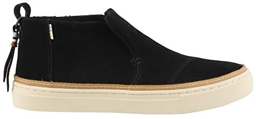 Suede Slip On Shoes - TOMS Women's Paxton Slip On Shoes Black Suede 9