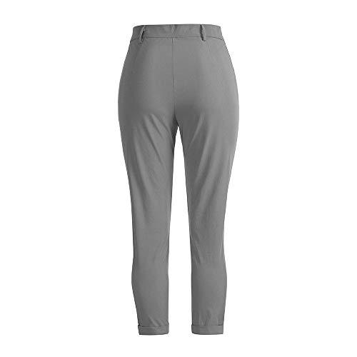 Solido Lavoro Elastico Invernali Da Tasche Cloom Pantaloni Grigio uomini Uomo Tuta Larghe Jogging Della Casual Pant 76w08xOqw