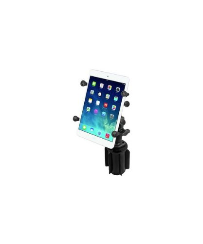 "RAM Mounts (RAP-299-3-UN8U) Ram-A-Can Ii Universal Cup Holder Mount with Universal X-Grip Ii Holder for 7"" Tablets Including the Ipad Mini 1-3"