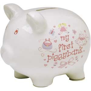 Baby Essentials My First Piggy Bank for Girl (Bank Girl Baby Piggy)