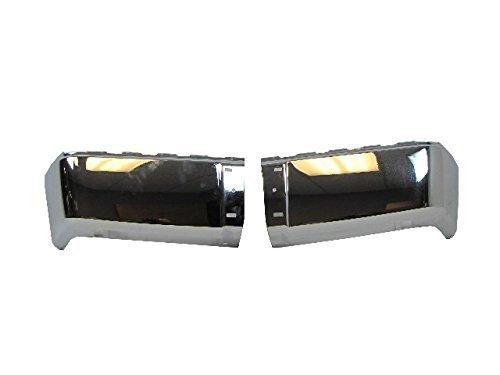 (2007-2013 Silverado Sierra Rear Bumper Chrome Ends Set=Lh & Rh W/O Sensor Hole by NEW AFTERMARKET PARTS)
