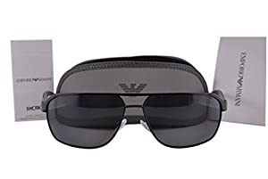 Emporio Armani EA2039 Sunglasses Black w/Polarized Grey Lens 301481 EA 2039 For Men