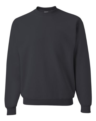 0/50 NuBlend Fleece Crew(562)-BLACK HEATHER-L (High Neck Sweatshirt)