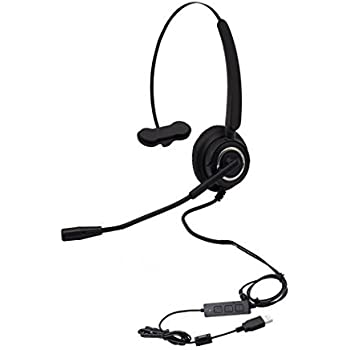 callany computer usb headset over the head hands free wired headphone with noise. Black Bedroom Furniture Sets. Home Design Ideas