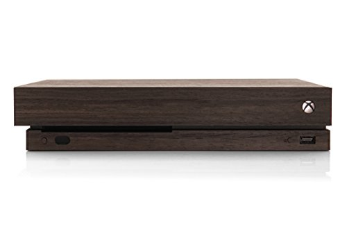 TOAST - Real Wood, Self-Adhesive Cover for Microsoft Xbox One X - Ebony