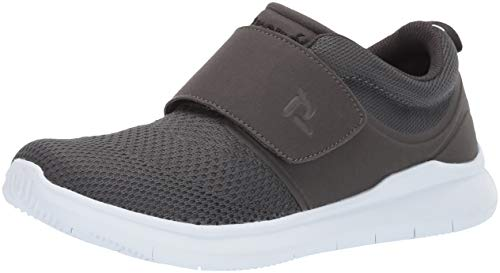 Propet Men's Viator Strap Sneaker, Grey, 13 E US