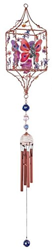Wind Chimes Candle (StealStreet SS-G-99979 Candleholder Pewter & Gem Fairy Hanging Garden Decoration Wind Chime)