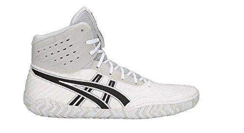 ASICS Aggressor 4 Shoe - Men's Wrestling White/Black