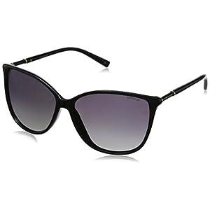 Polaroid Sunglasses Women's PLD4005S Polarized Square Sunglasses, Shiny Black & Gray Gradient Polarized, 59 mm