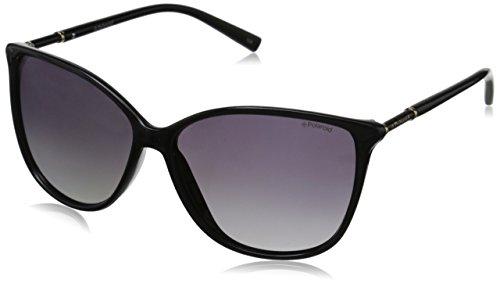 Polaroid Sunglasses Women's PLD4005S Polarized Square Sunglasses, Shiny Black & Gray Gradient Polarized, 59 - Polarized Polaroid Sunglasses