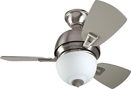 "Craftmade DA30BNK3 Dane Ceiling Fan with Light 30"" Three Bla"