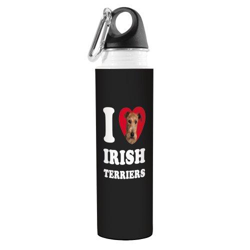 Irish Water Terrier (Tree-Free Greetings VB49068 I Heart Irish Terriers Artful Traveler Stainless Water Bottle, 18-Ounce)
