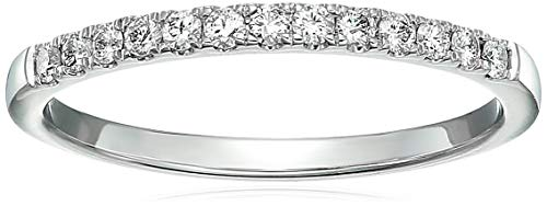 - Vir Jewels 1/5 cttw Pave Diamond Wedding Band in 14k White Gold in Size 5.5