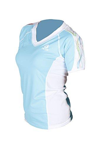 New Tilos Women's 6oz Anti-UV Short Sleeve V-Neck Rash Guard