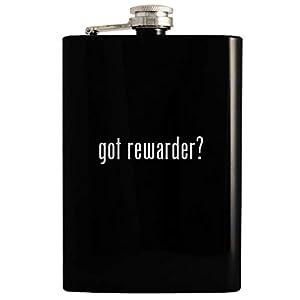 got rewarder? - 8oz Hip Drinking Alcohol Flask, Black