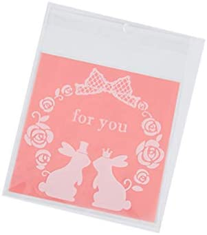 ledmomo ビニール袋 ラッピング袋 お菓子 チョコレート クッキー キャンディー 包装 かわいい プラスチック製 自己粘着 パーティー ギフト 200枚セット