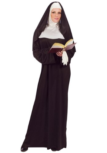 [FunWorld Mother Superior Nun, Black, One Size (Standard)] (Adult Classic Nun Costumes)