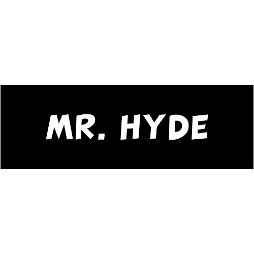 Mr Hyde Halloween Costumes - MR. Hyde Halloween Costume Name Tag