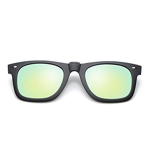 polarizado Clip Gafas Gafas de Clip en Clip Gafas polarizado con en Tapa Tukistore Sol Tapa la Gafas para Sol luz Sol contra de con de Sujeción de oro Redondo Hombre Sol polarizadas de para Clip Damas qwazxIwr
