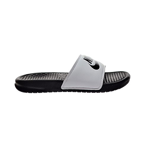 Men's M US Black Benassi 8 Sandals 343880 D JDI White Nike 100 aZxfqZ6wE