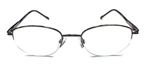 Camille Rimless Ophthalmic-Grade Reading Glasses Spring Hinge with Free Case by See Clearly Readers (2.75, Gunmetal) Camille Spring