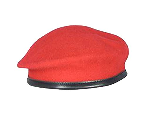 British Military Berets - Unit Options (57 cm / 7 1/8, Red (Royal Military Police))