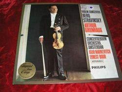 Berg, Violin Concertos, Stravinsky, Arthur Grimiaux, Philips ()