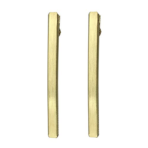 Earofcorn Fashion Girls Shining Headwear Hair Clip Crocodile Clip DIY Styling Hair Accessories(A Pair Set) (Gold) -