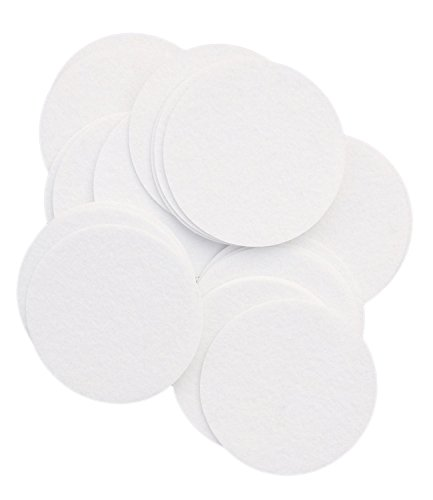 Playfully Ever After 4 Inch White 19pc Stiff Felt Circles