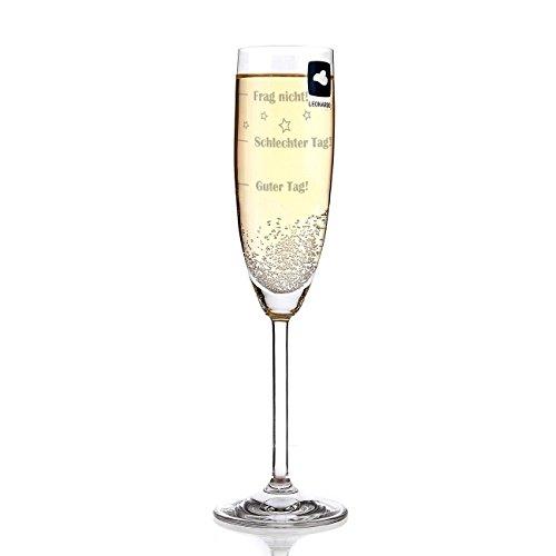 Leonardo Sektglas mit Gratis Gravur - Guter Tag - Schlechter Tag - Frag nicht! - das Stimmungsglas als lustige Geschenkidee