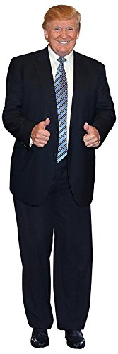 Aahs Engraving President Donald Trump Life Size Carboard Stand Up (Blue) (Life Size Cardboard Cutouts)