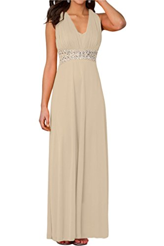 ivyd ressing Mujer Elegante V de recorte piedras rueckfrei fijo vestido Prom para vestido de noche Traube